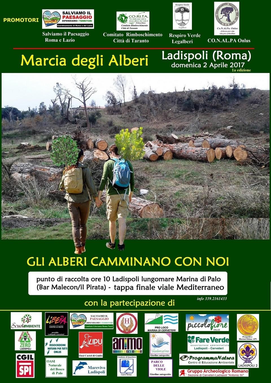 30 alberelli messi a dimora: la Marcia degli Alberi è arrivata a Ladispoli