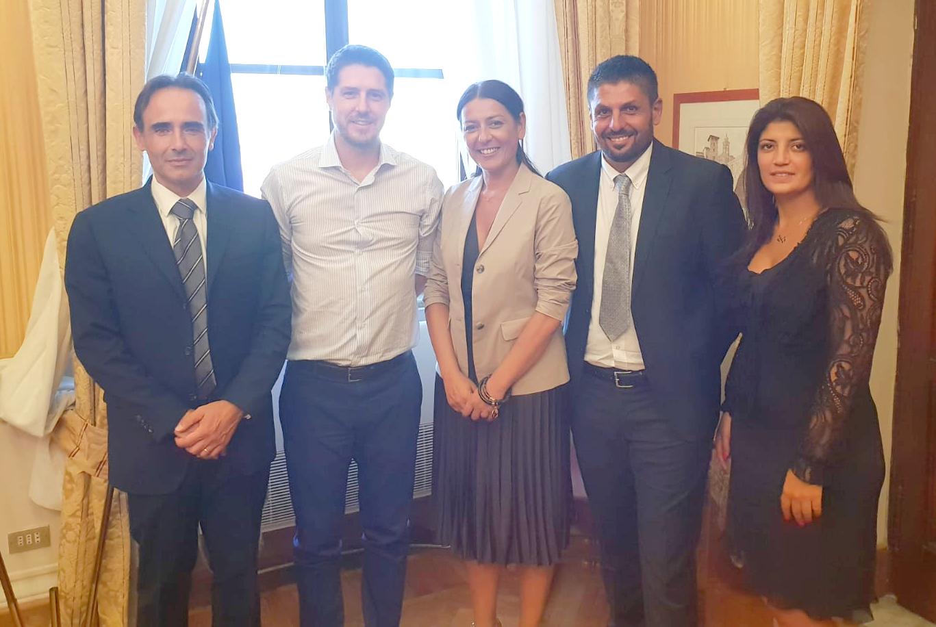 Ladispoli: i consiglieri della Lega Quintavalle e Augello incontrano il sottosegretario agli interni Molteni