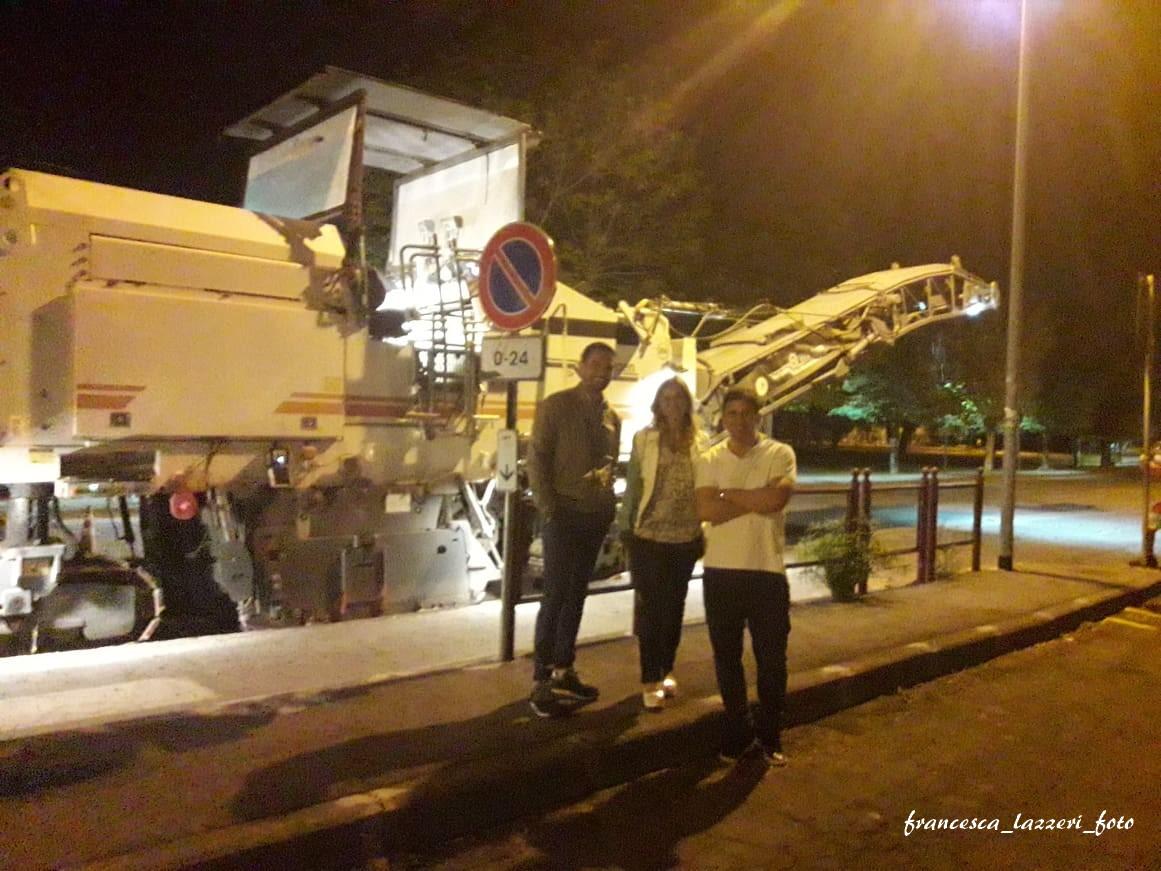 Via Firenze: nel cuore della notte al via ai lavori di asfaltatura