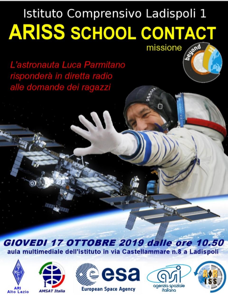 Evento spaziale all'i.c. Ladispoli 1: collegamento via radio con la Stazione Orbitante Internazionale ed il Comandante Palmitano